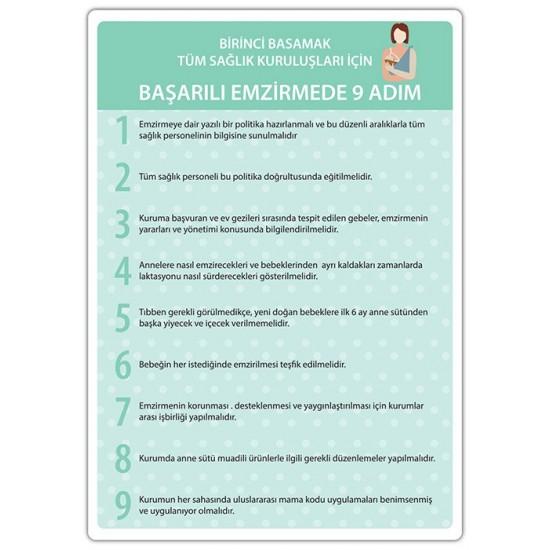 Başarılı Emzirmede 9 Adım Afişi (A3)