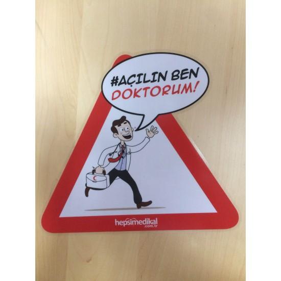 Açılın Ben Doktorum Araç Stickerı
