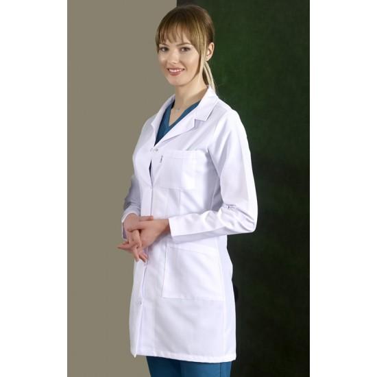 Bayan Doktor Önlüğü Klasik Yaka (Alpaka Kumaş)