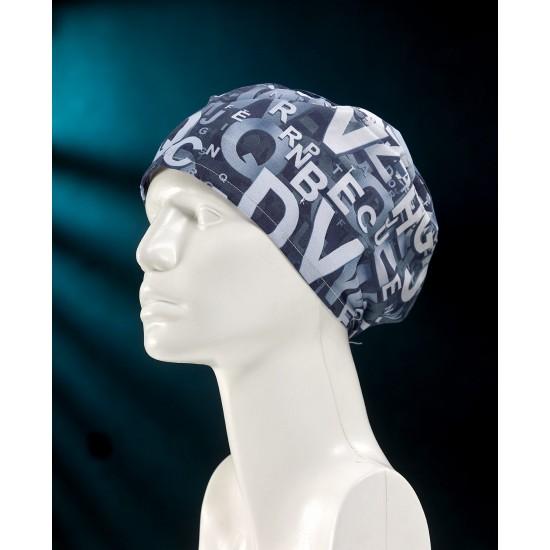 3D Alfabe Mavi Desenli Comfort Cotton Bone
