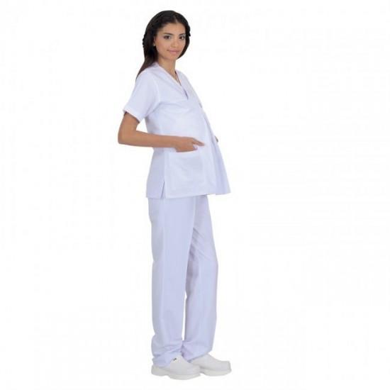 Hamile Hemşire Forması (Alpaka Kumaş)